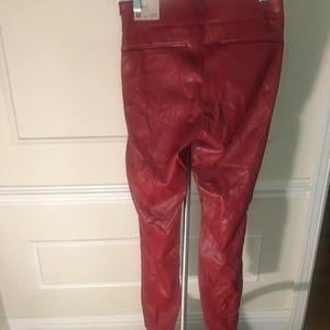 Red Zara skinny pants